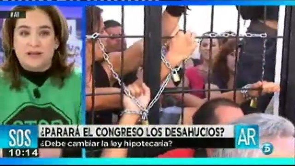 """Ada Colau: """"España es el único país que deja a la gente endeudada de por vida"""""""