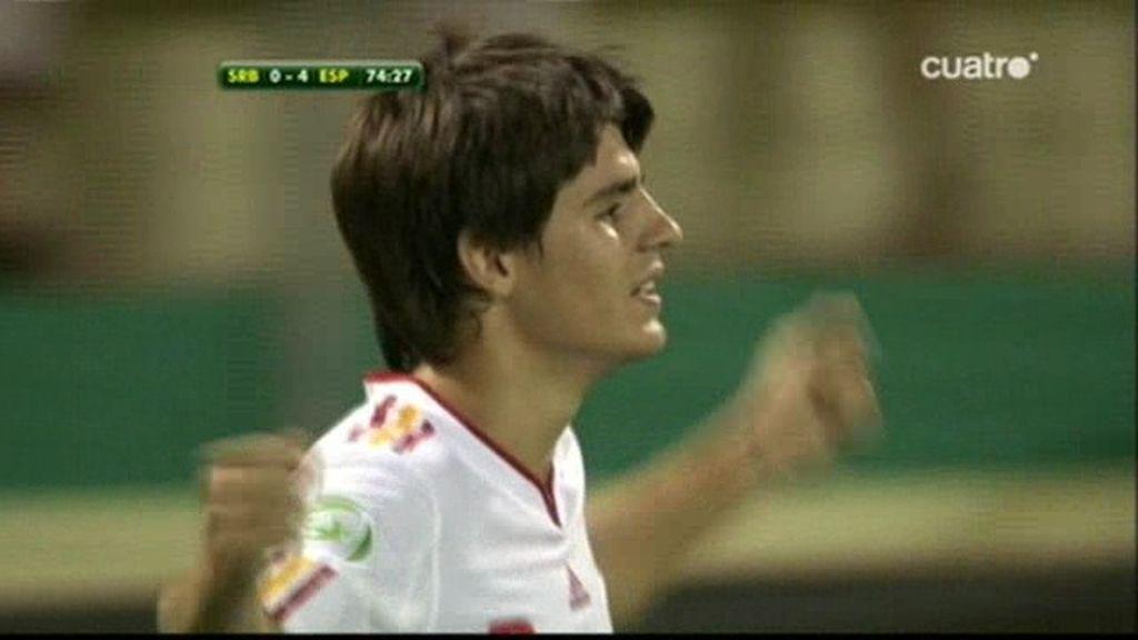 'Hat-trick' de Morata, 0-4