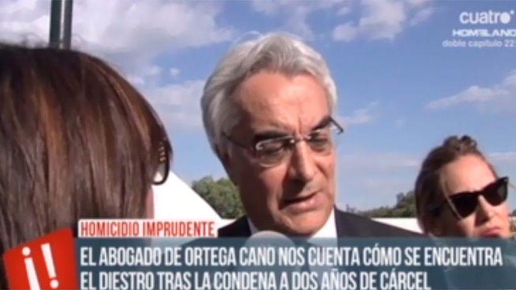 El abogado de Ortega Cano cuenta cómo se encuentra el diestro después de la condena