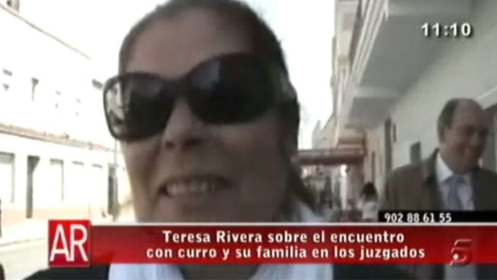 Teresa Rivera, sobre Curro