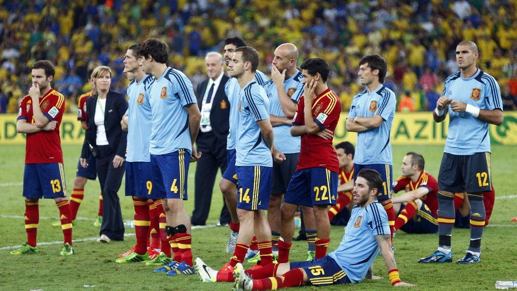Arbeloa y Piqué no recogieron la medalla
