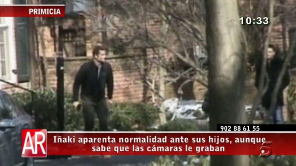 Iñaki Urdangarín se relaja con sus hijos