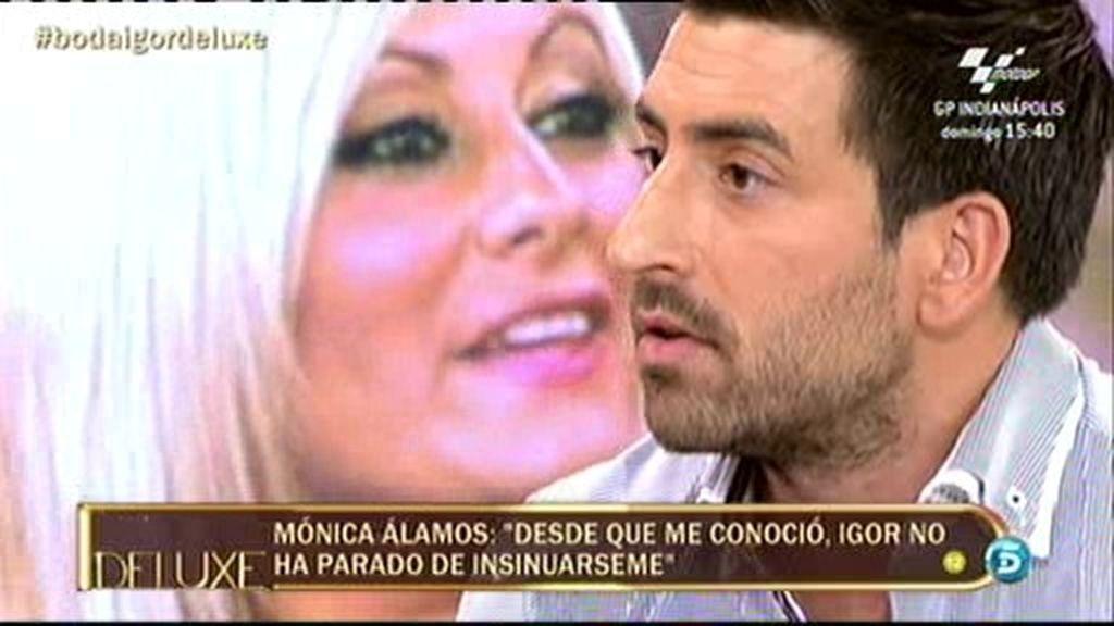 El cara a cara entre Igor y Mónica, la rubia explosiva que dice haber flirteado con él