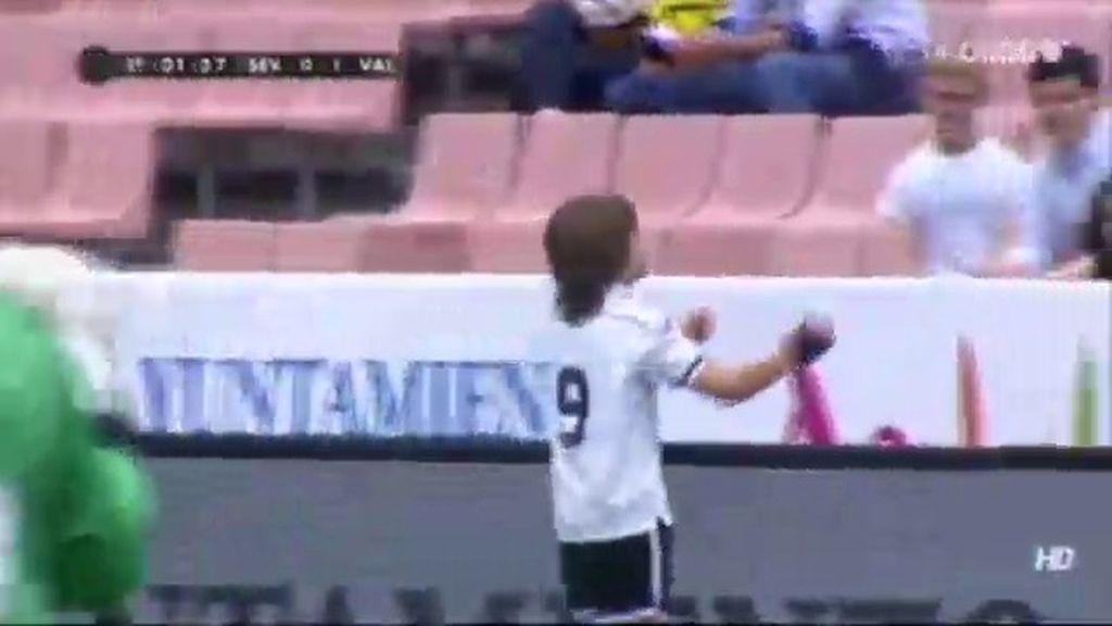 Gol: Sevilla 0 - 1 Valencia (Min. 1)