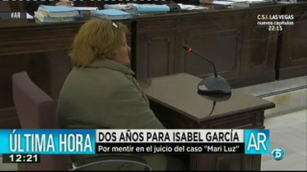 Isabel García, condenada a dos años de prisión por falso testimonio