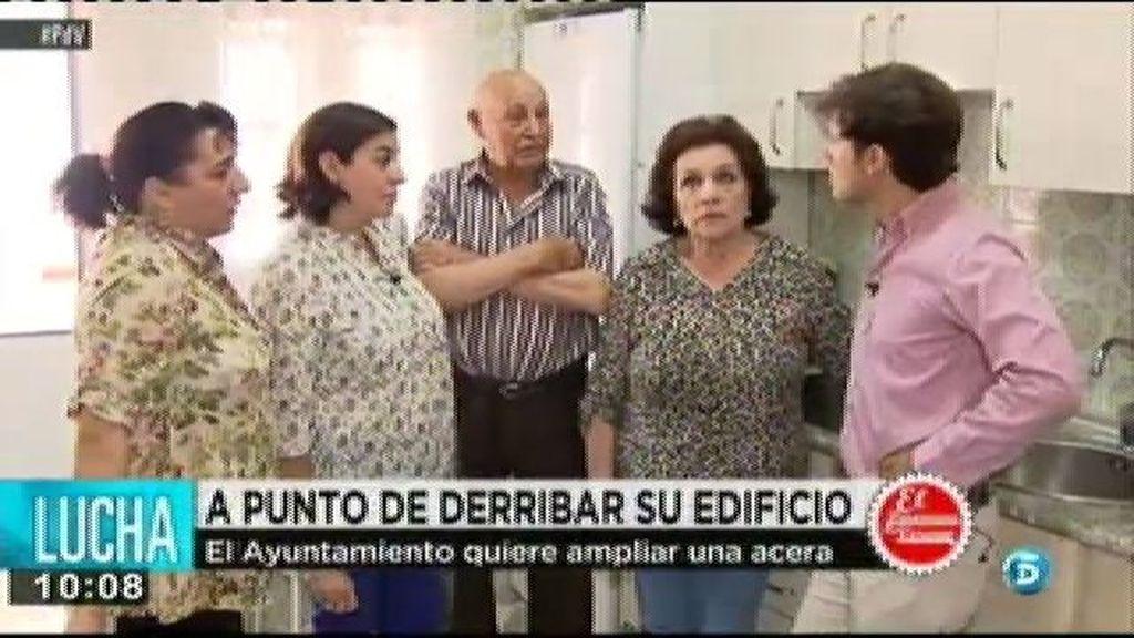 El Ayuntamiento de Madrid quiere desalojar a tres familias para ampliar una acera