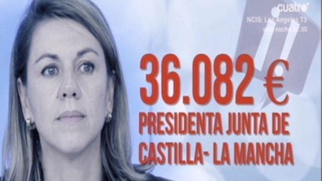Cospedal cobró del Estado 158.000 netos en 2011