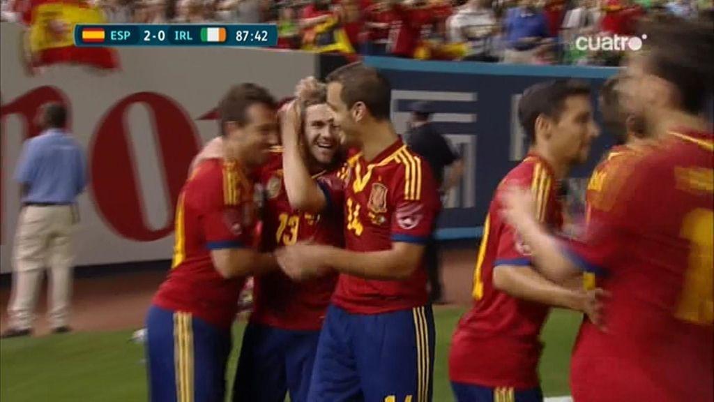 Gol: España 2-0 Irlanda (min. 88)