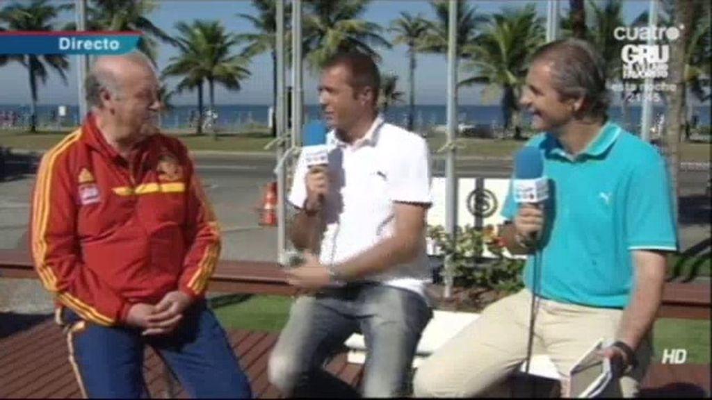 """Del Bosque:""""Nosotros venimos de invitados y queremos romperle la fiesta a Brasil"""""""