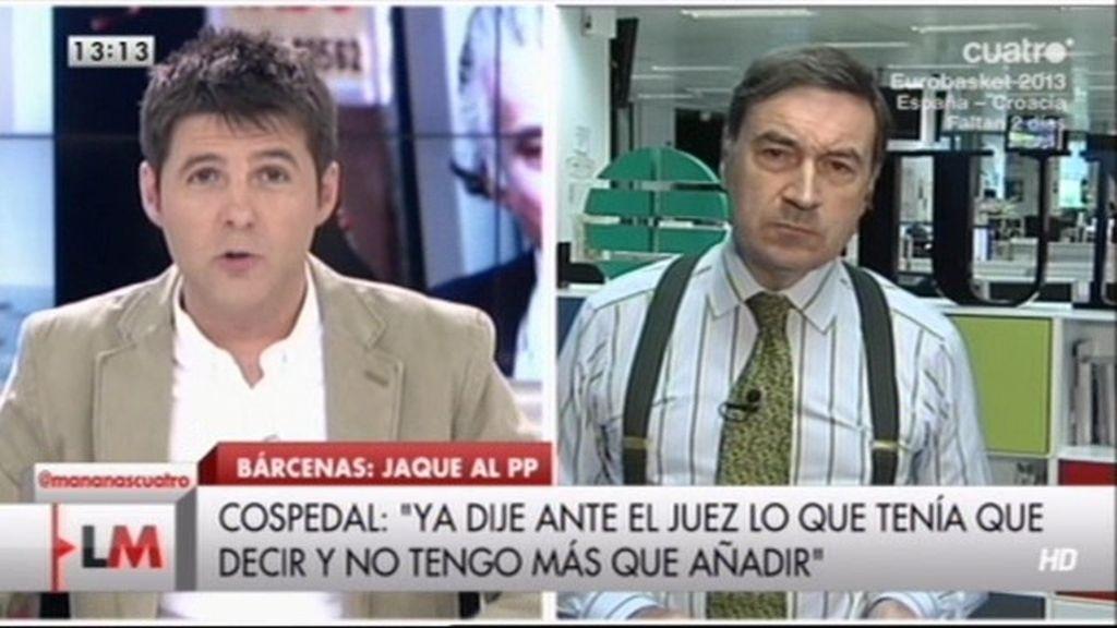 """Pedro J. Ramírez: """"Cospedal y Rajoy no dijeron toda la verdad"""""""
