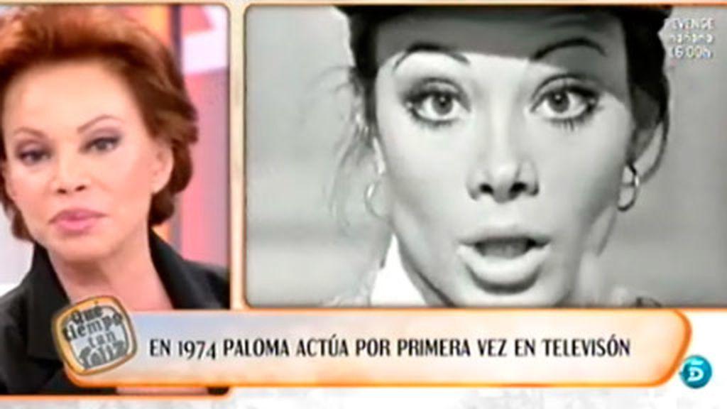 Actúa por primera vez en televisión en 1974