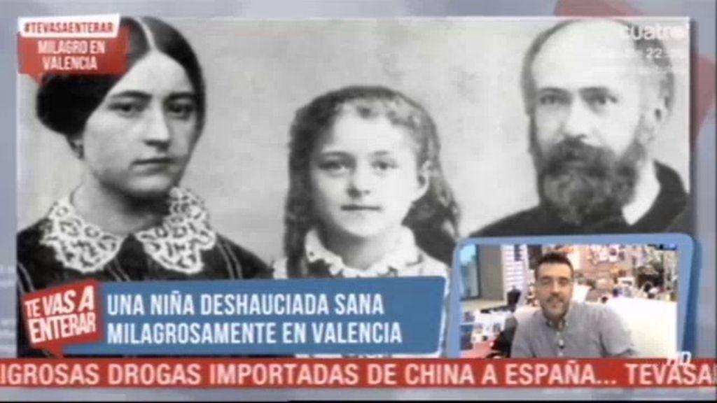 Investigan en Valencia un milagro que salvó la vida a una niña