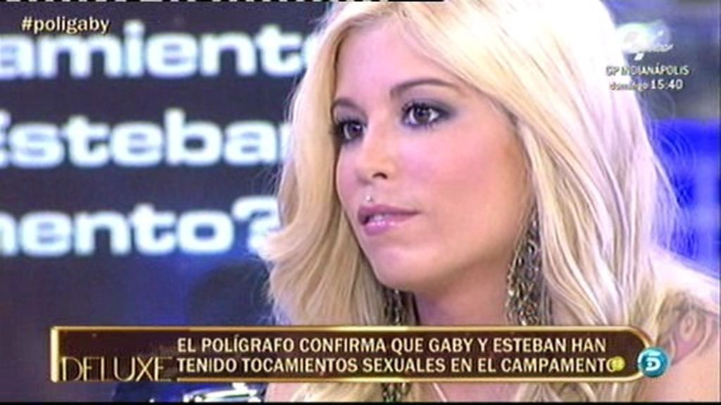 Gaby no ha mantenido relaciones sexuales plenas con Esteban