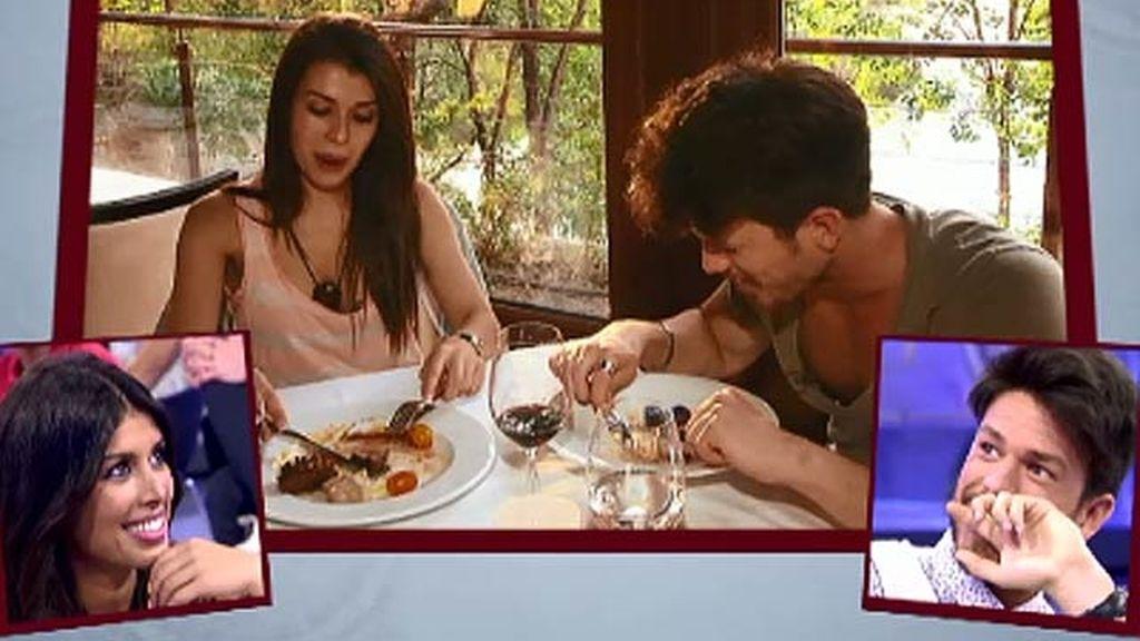 La cena romántica de Yasmina y Fede
