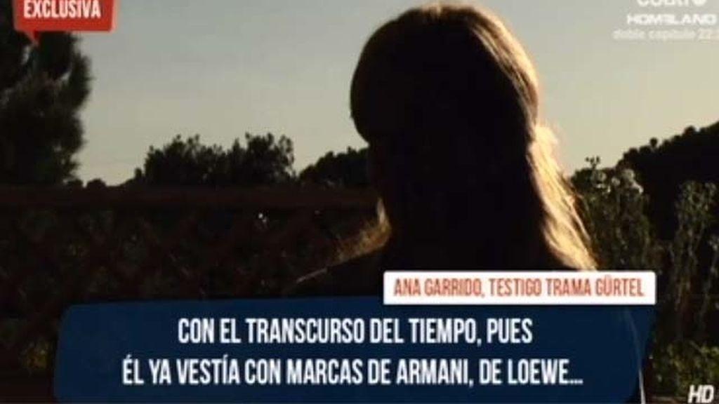Ana Garrido, la testigo clave del caso Gürtel por primera vez en televisión