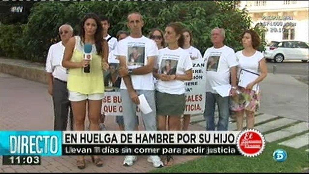 Lleva en huelga de hambre 11 días para pedir justicia para su hijo