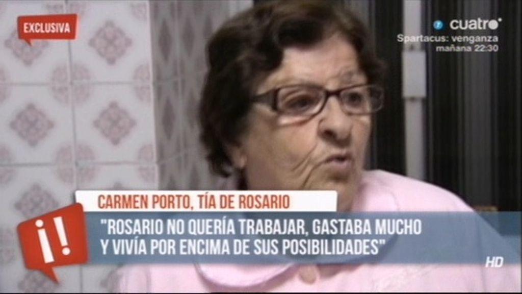 """Carmen Porto: """"Rosario vivía por encima de sus posibilidades"""""""