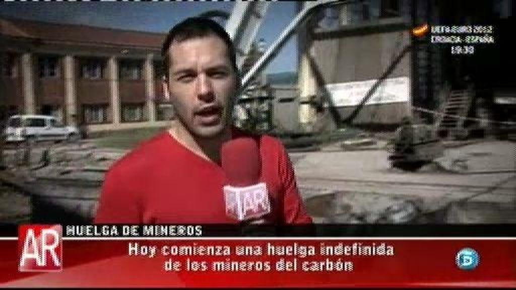 Comienza la huelga indefinida de los mineros del carbón