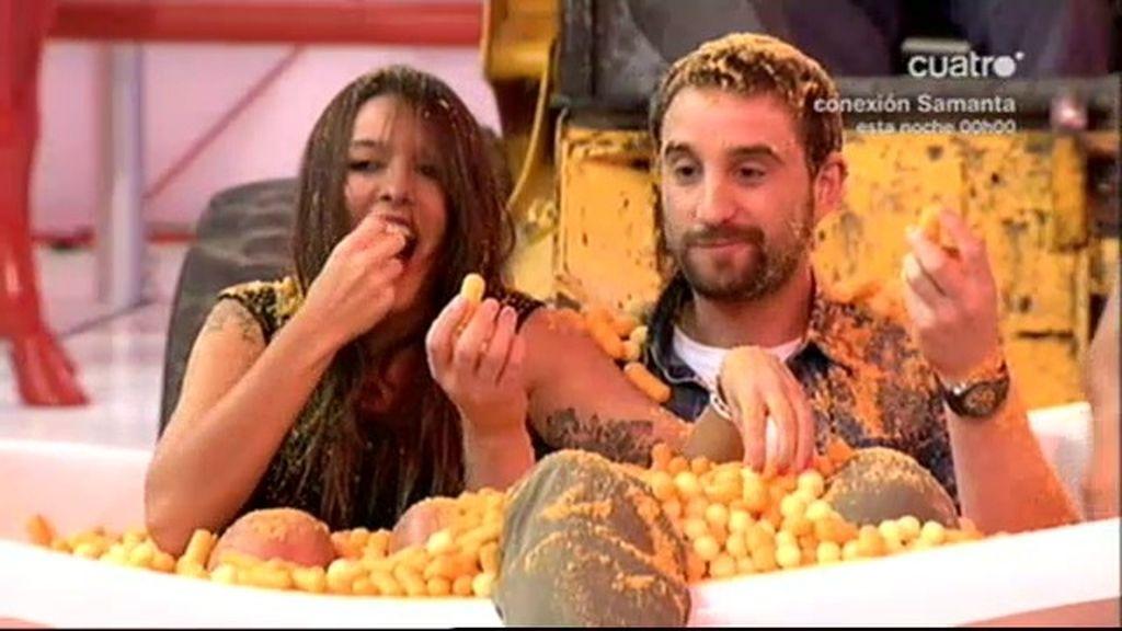 Gusanitos y bolitas de queso para Lorena y Dani