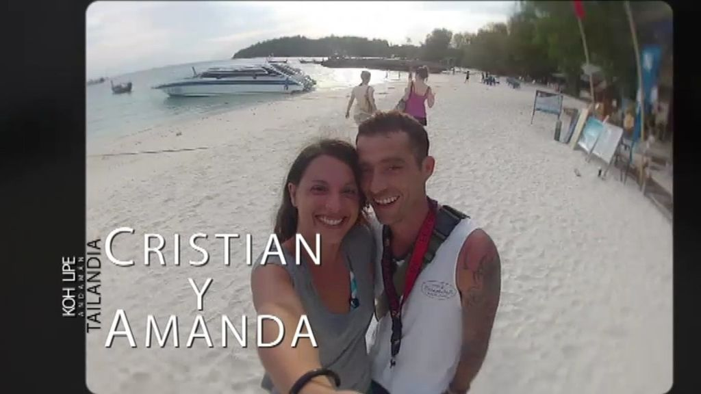 Amanda y Cristian, todo por el paraíso