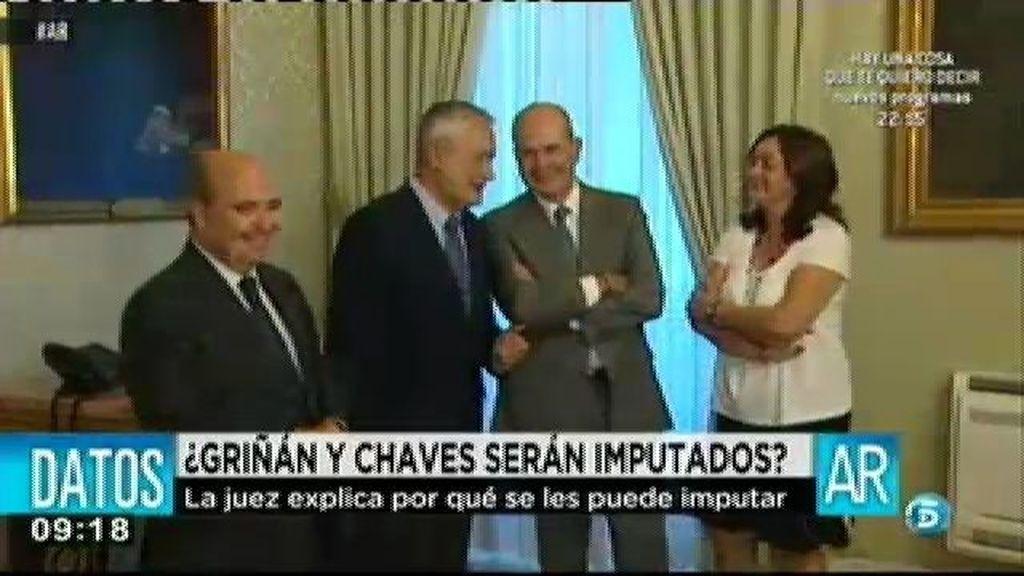 La juez Alaya pide la imputación de Griñán y Chaves