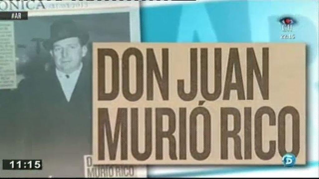 Don Juan dejó una fortuna de 1.100 millones de pesetas