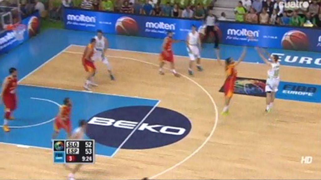 España y Eslovenia se la juegan a triples