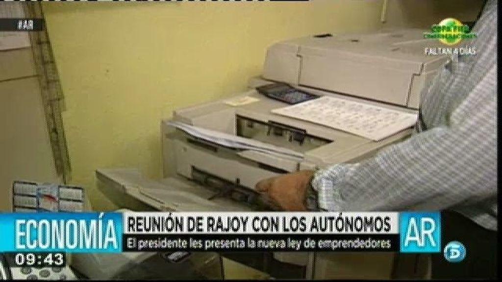 Rajoy se reúne con los autónomos para presentarles la nueva ley de emprendedores
