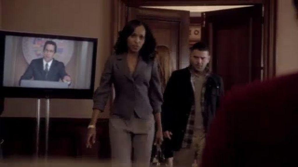 Olivia le ofrece asilo a la mujer del dictador