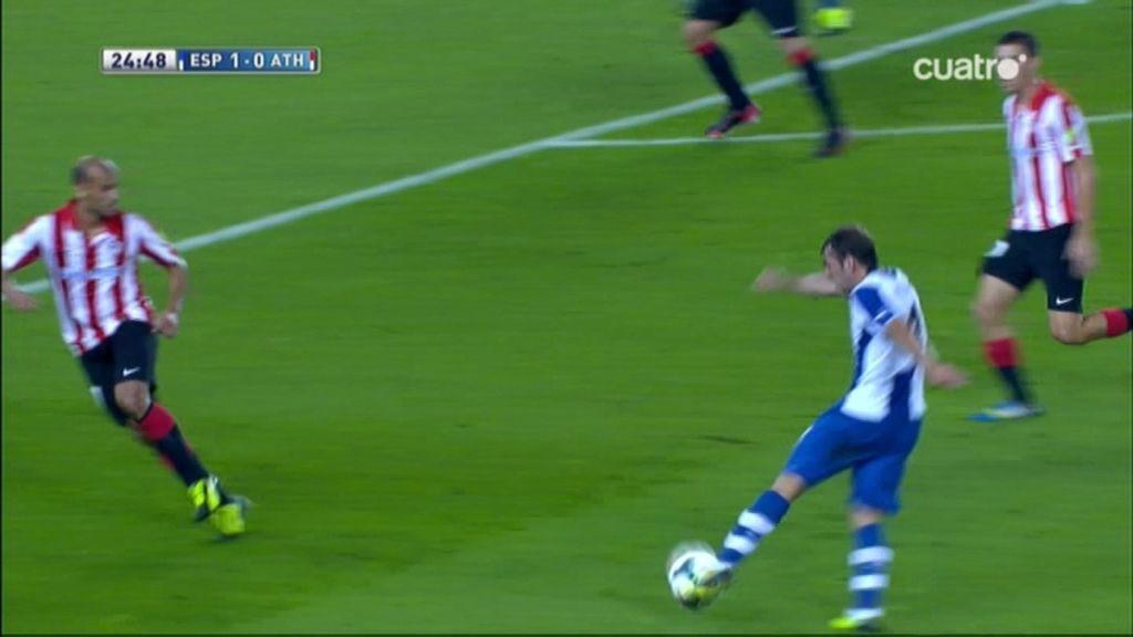 Golazo de Víctor Sánchez para abrir el marcador ante el Athletic