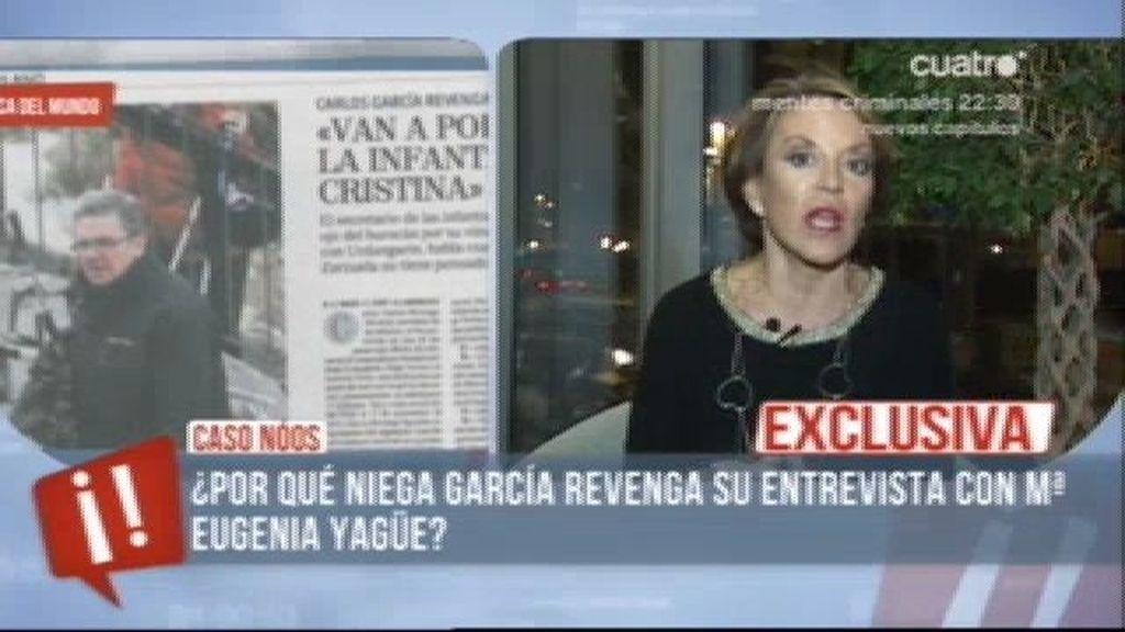 """Mª Eugenia Yagüe, sobre el caso Noos: """"Torres y su abogado apuntan más arriba"""""""