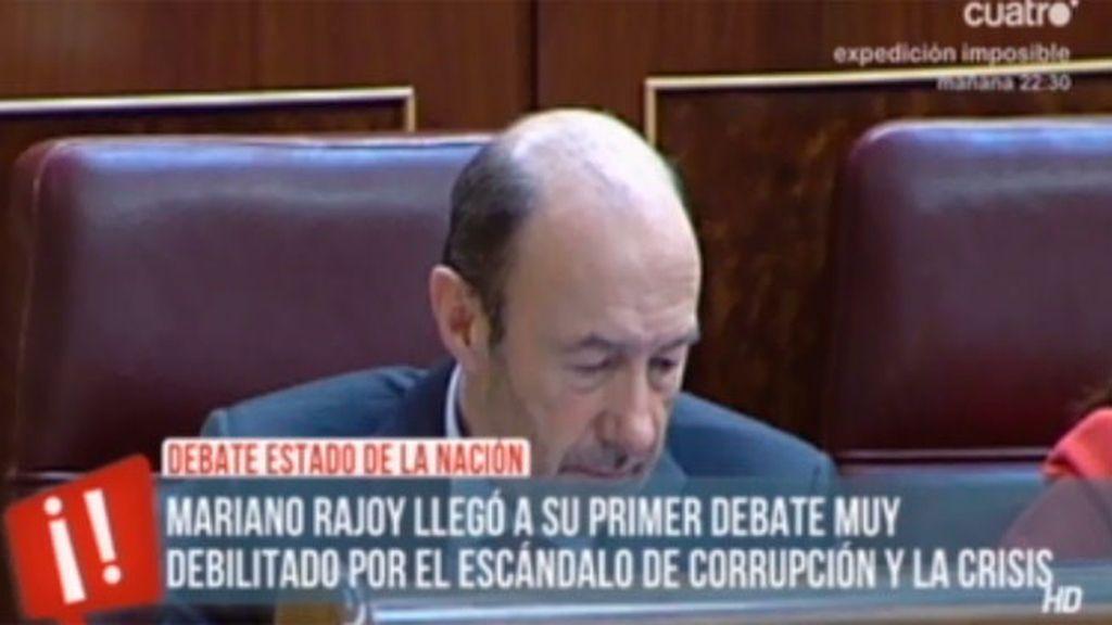 El cara a cara de Rajoy y Rubalcaba en el debate sobre el Estado de la Nación