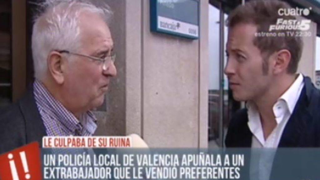 Un policía local de Valencia apuñala a un extrabajador que le vendió preferentes
