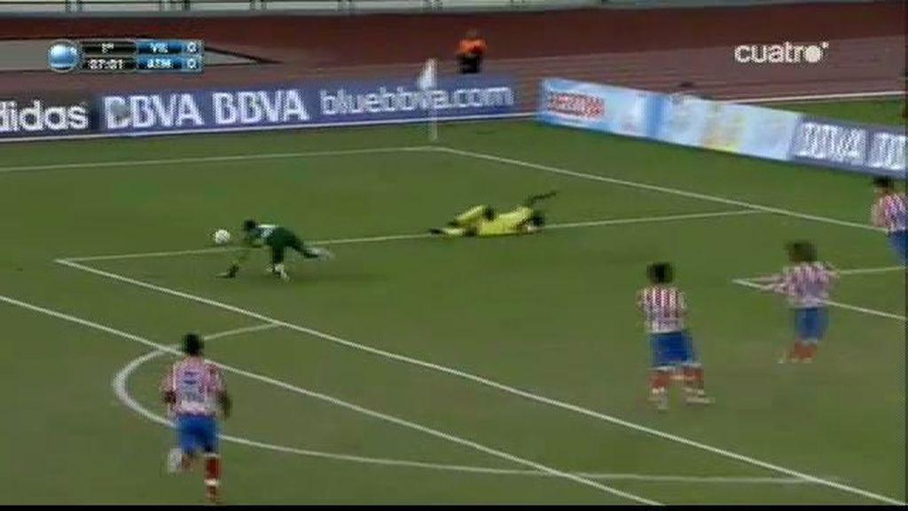 Alex detiene el penalti al Villarreal
