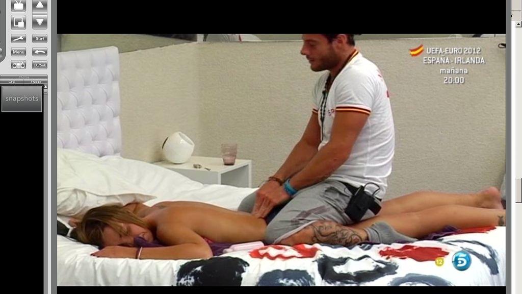 Las chicas se ganan un masaje