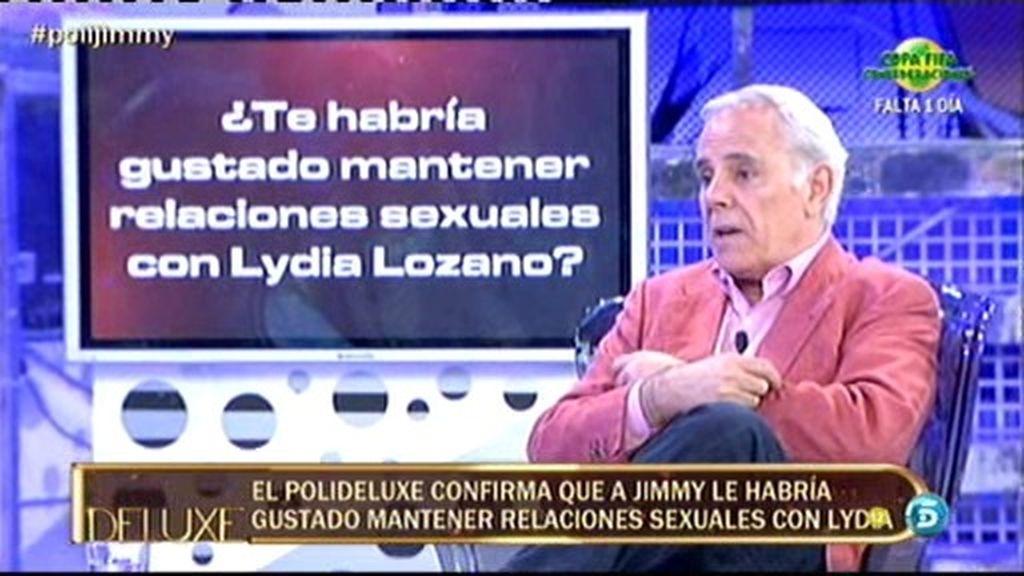 A Jimmy Giménez Arnau le hubiera gustado tener relaciones sexuales con Lydia Lozano