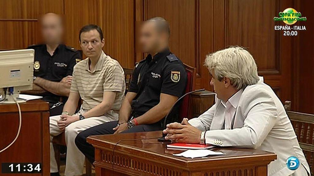 Bretón reacciona por primera vez en el juicio al escuchar el testimonio de Juan David