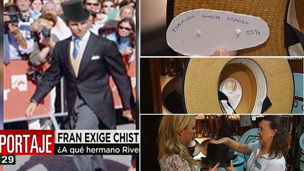 Francisco Rivera, con chistera alta el día de su boda