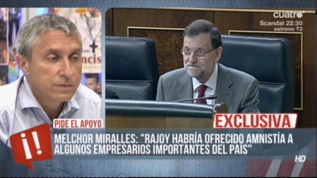 Melchor Miralles habla de un posible indulto a empresarios del IBEX 35