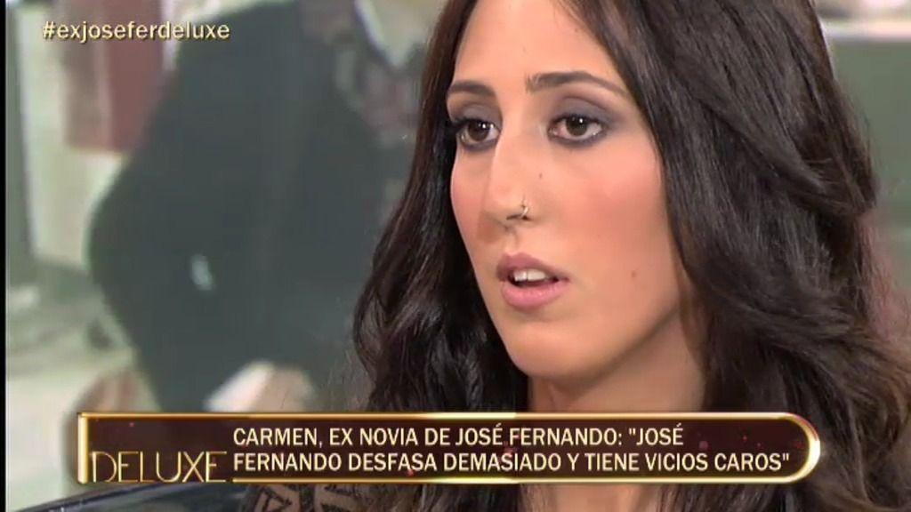 """Carmen, ex novia de José Fernando: """"Se acostó conmigo mientras estaba con Michu"""""""