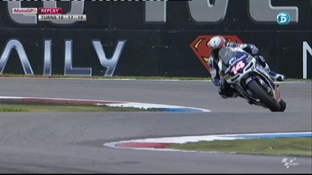 ¿Cuál es el ángulo de inclinación de una MotoGP?