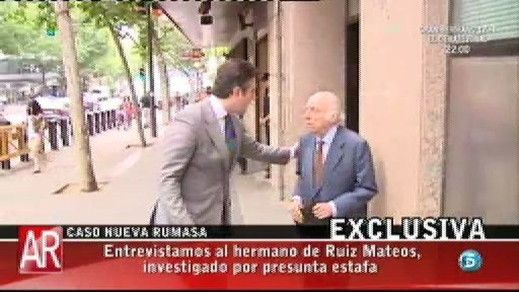 Isidoro Ruiz Mateos niega su responsabilidad en los hechos que se le imputan a su hermano