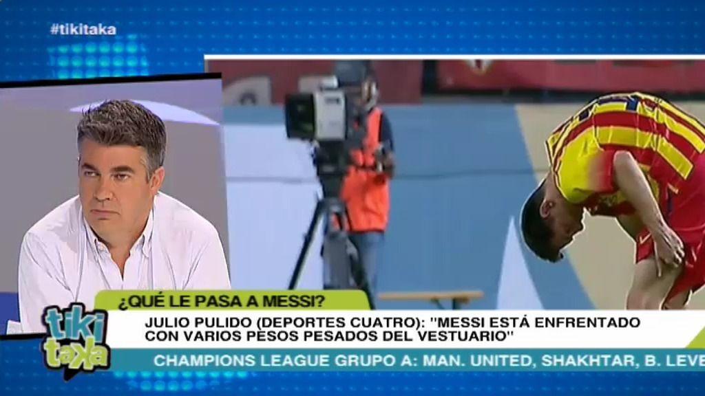 """Pulido: """"Messi está enfrentado con varios pesos pesados del vestuario del Barça"""""""
