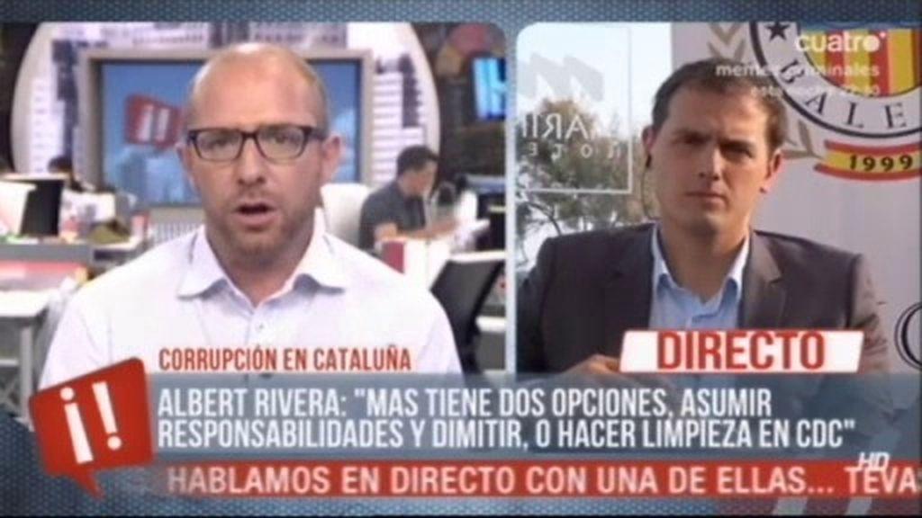 "Albert Rivera: ""Mas, no se esonda y asuma resposabilidades"""