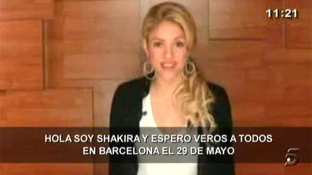 Shakira habla en catalán...