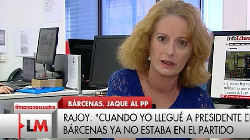 """Alicia Gutiérrez: """"Bárcenas figura en el listado de militantes que pagaban cuota en el 2011"""""""