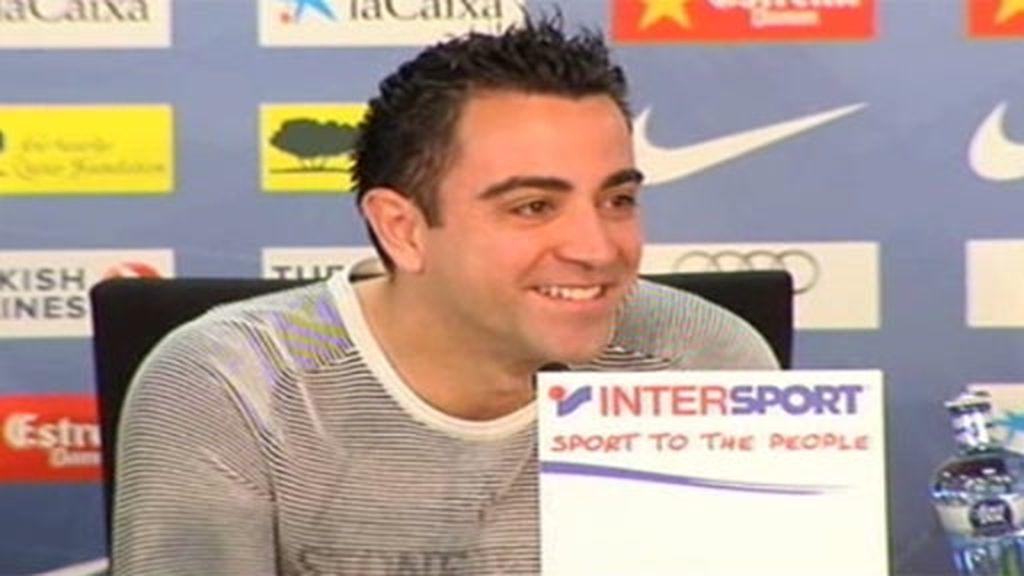 Xavi habla sobre Piqué y Shakira