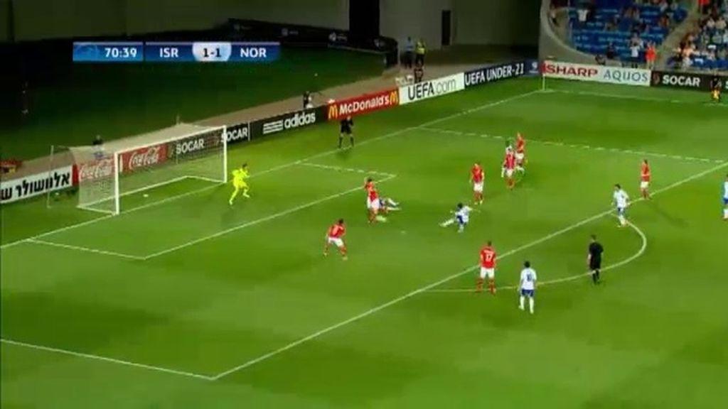 Gol: Israel 2 -1 Noruega (min. 71)