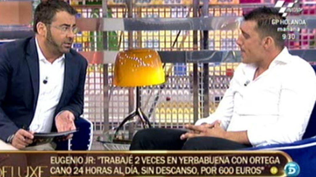 """Eugenio JR: """"Mi tío es una persona egoísta"""""""