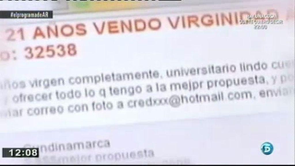Aumentan los anuncios en los que los jóvenes subastan su virginidad